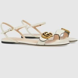 Gucci Women's Marmont Leather Double G Sandals